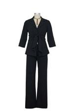 Audrey 2-Pc. Maternity Relaxed Pant Suit (Black) by Maternal America