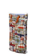 Planet Wise Hanging Wet/Dry Bag (Patchwork Plaid) by Planet Wise
