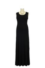 Nom Surplice Tank Maxi Nursing Dress (Black) by NOM