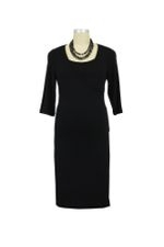 Nom Surplice Nursing Dress (Black) by NOM
