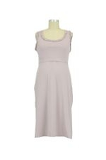 Ruffle Trim Nursing Night Dress (Hushed Violet) by Mothers en vogue