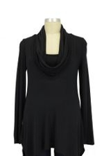 Sydney Cowl Neck Nursing Top (Black) by Maternal America
