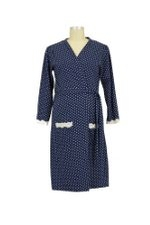 Dottie Robe (Navy Dot) by Belabumbum