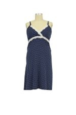 Dottie Nursing Chemise (Navy Dot) by Belabumbum
