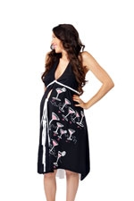 Pretty Pushers 'I Dream of Cosmos' Delivery Gown (Black & White) by Pretty Pushers