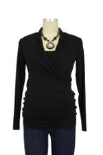 Isabella Nursing Top - Long Sleeve (Black) by Baju Mama