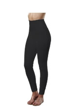 Tummy Tuck Leggings (Black) by Maternal America