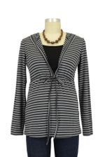 Haddie Striped Drawstring Nursing Hoodie (Stripes) by Annee Matthew