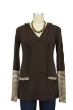 Tiger Nursing Hoodie (Espresso Stripe) by Annee Matthew