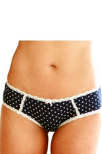 Dottie Girlshort (Navy Dot) by Belabumbum