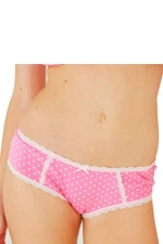 Dottie Girlshort (Cerise Dot) by Belabumbum