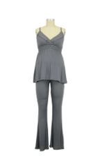 Collette Nursing Cami & Loungepant (Gunmetal) by Belabumbum