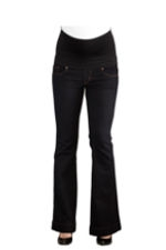 Maternity America Belly Support Boot Cut Maternity Jeans (Black) by Maternal America