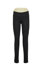 Maternal America Ponte Skinny Maternity Pants (Black Ponte) by Maternal America