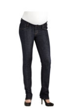 Maternal America Skinny Denim Waistband Maternity Jeans (Dark Blue) by Maternal America