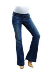Maternal America Boot Cut Denim Waistband Maternity Jeans (Classic Wash) by Maternal America