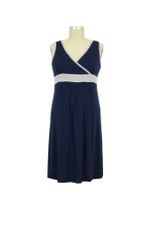 Jane Modal Nursing Chemise (Navy/Heather Grey) by Baju Mama