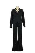 Clara Ponte 2-Piece Maternity Jacket & Pant Suit (Black Ponte) by Everly Grey
