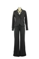Clara 2-Piece Ponte  Maternity Jacket & Pant Suit (Charcoal Ponte) by Everly Grey