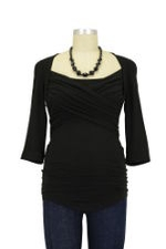 Toni 3/4 Sleeve Nursing Top (Black) by Toni Top