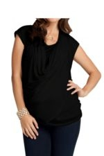 Ingrid & Isabel Wrap Tie Nursing Top (Jet Black) by Ingrid & Isabel