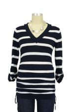Veronica Knit Maternity Top (Navy & White Stripes) by Ripe Maternity