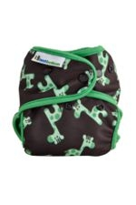 Best Bottom Diaper Shells-Snap (Green Giraffe) by Best Bottom Diapers