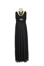 Leona Maternity Gown (Black) by Love My Belly