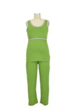 JW D&A Riley 3-piece Nursing Tank PJ Set with Blanket (Green) by Japanese Weekend