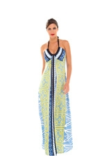 Carey Maxi Maternity Dress (Arabesque Print) by Olian