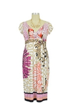 Dakota Maternity Dress (Fuchsia Floral Print) by Olian