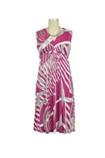 Patti Maternity Dress (Pink & White Abstract Print) by Olian