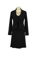 JW Ponte Every-Wear Maternity Dress with Jacket (Black) by Japanese Weekend