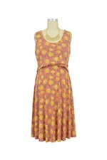 Chloe Cross Empire Nursing Dress (Summer Floral Print) by Maternal America
