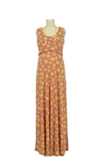 Chloe Cross Empire Nursing Maxi Dress (Summer Floral Print) by Maternal America