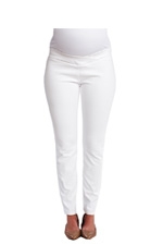 Cigarette Maternity Jeans (White) by Maternal America