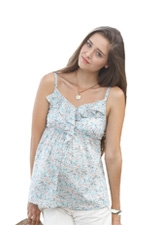 Frills & Grace Linen Nursing Cami (Fleurette Print) by Mothers en vogue