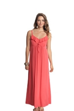 Frills & Grace Nursing Maxi Dress (Georgia Peach) by Mothers en vogue