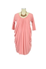 Cocoon Drape Nursing Dress (Cloudy Peach Pink) by Mothers en vogue