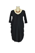 Cocoon Drape Nursing Dress (Black) by Mothers en vogue