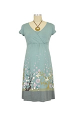 Tara Nursing Dress (Soft Blue Harmony) by Mothers en vogue