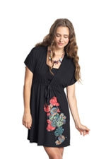 Love Thee Embellished Drawstring Nursing Tunic-Dress (Black) by Mothers en vogue