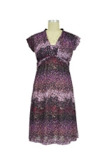 D&A Twist Front Nursing Dress (Purple Abstract Print) by Japanese Weekend