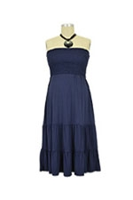 Charlene Strapless Nursing Dress (Navy) by Annee Matthew