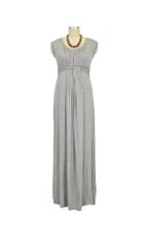 D&A Basket Weave Maxi Nursing Dress (Heather Grey) by Japanese Weekend