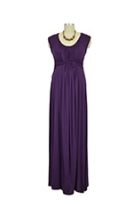 D&A Basket Weave Maxi Nursing Dress (Eggplant) by Japanese Weekend