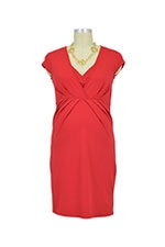 Queen Mum Nursing Dress (Dark Red) by Queen Mum