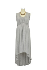 D&A High Low Maxi Nursing Dress (Heather Grey) by Japanese Weekend