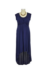 D&A High Low Maxi Nursing Dress (Navy) by Japanese Weekend