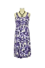 Ying Anytime Sleeveless Nursing Dress (Purple Print) by Larrivo